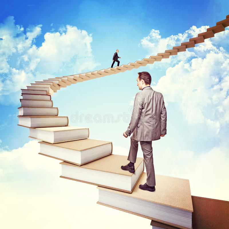 Knowledge stair royalty free stock photos