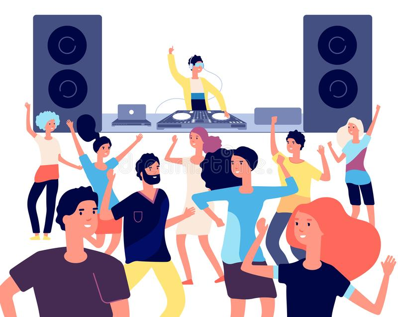 Dj Disco Music Party People Stock Illustrations – 701 Dj