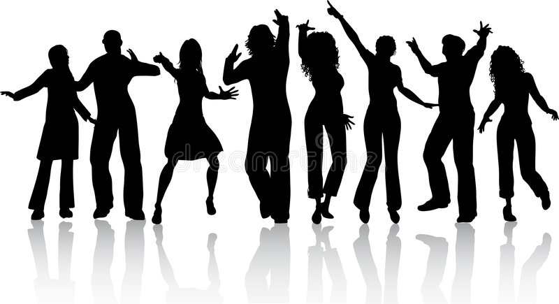 People dancing royalty free illustration