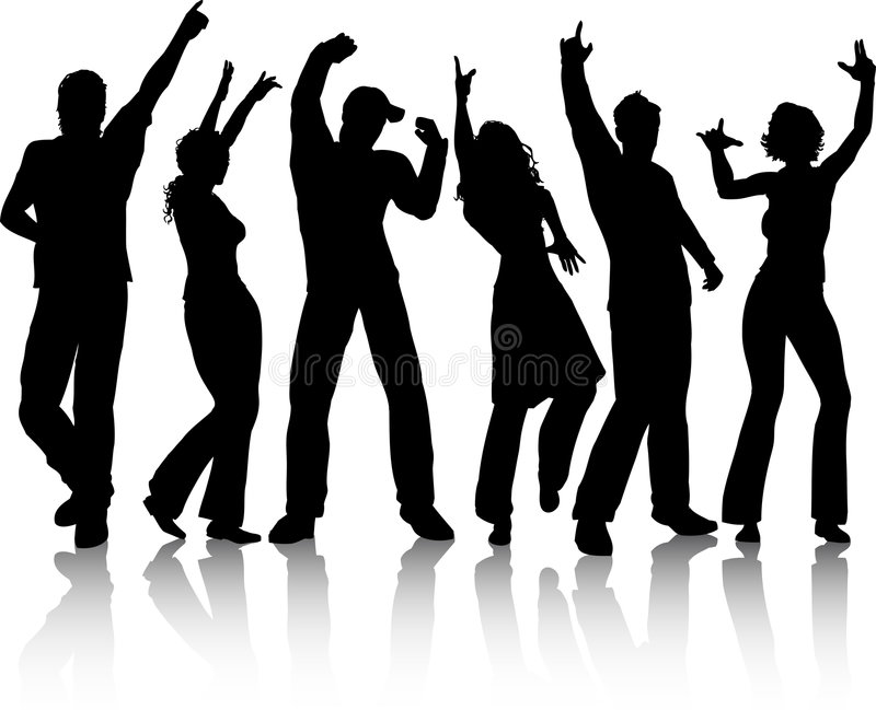 People dancing vector illustration
