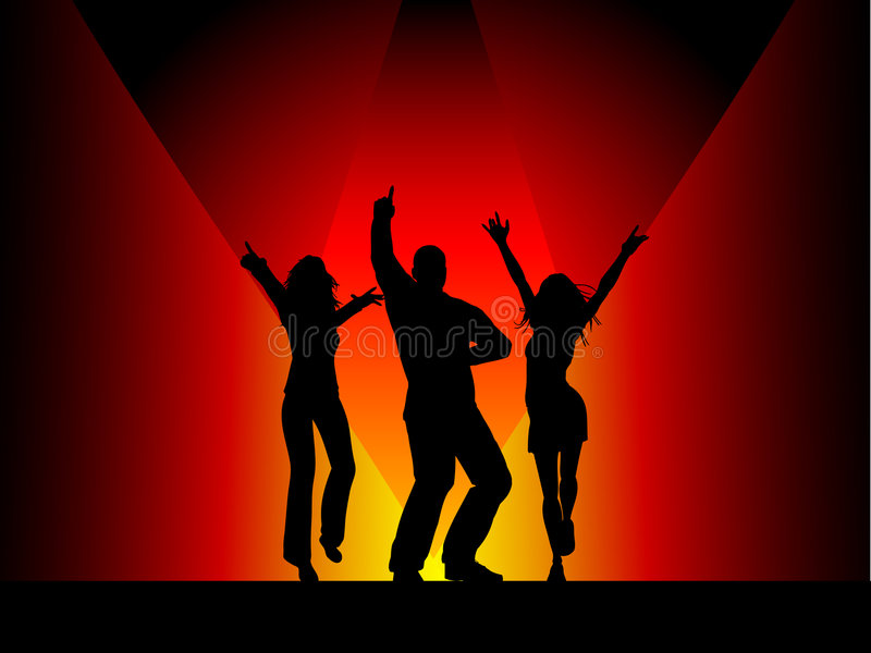 People dancing stock photography