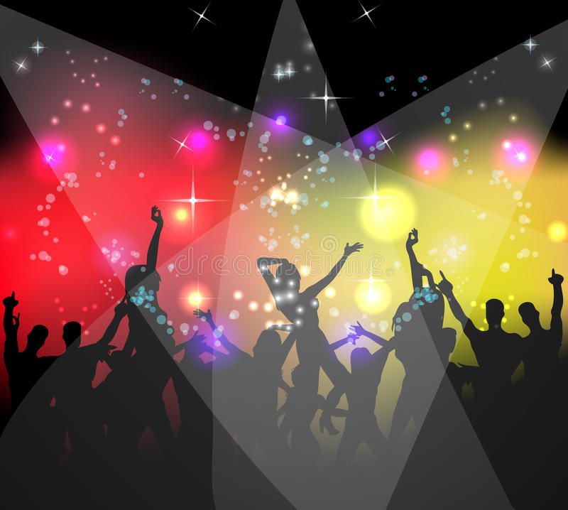 Download People Dancing Background Party Stock Vector - Image: 16364448