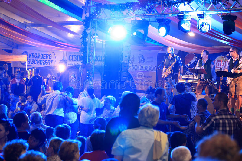 Download People Dancing  At CibinFest Beer Festival Editorial Stock Photo - Image: 26915133