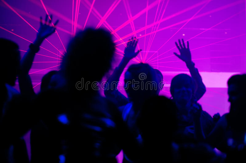 Download People Dancing In Club With Laser Stock Photo - Image: 15211250