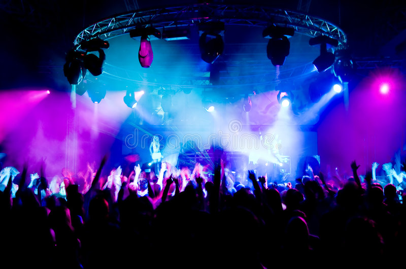 People Dancing At The Concert Stock Photography
