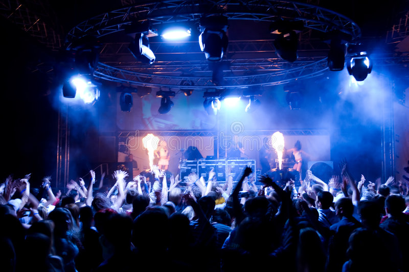 Download People Dancing At The Concert Stock Photo - Image: 5990600