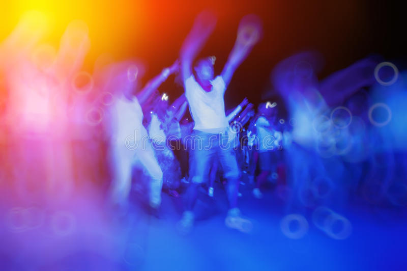 People dancing at a disco night royalty free stock photos