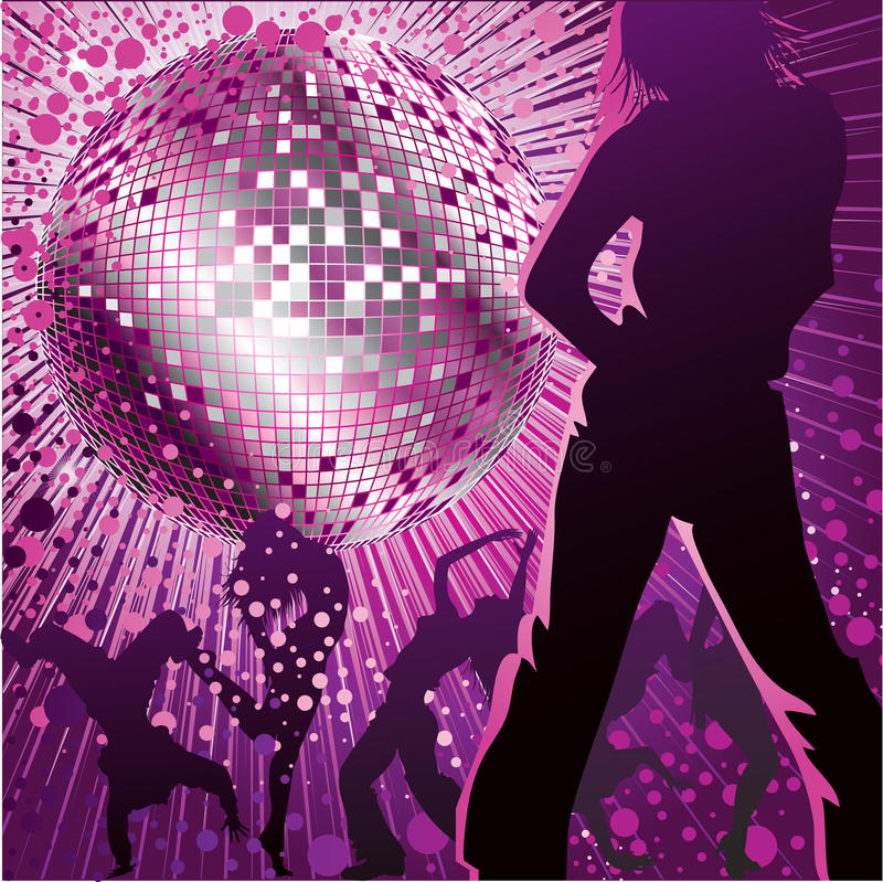 Download People Dancing In Night-club Stock Vector - Illustration of ball, light: 15000567