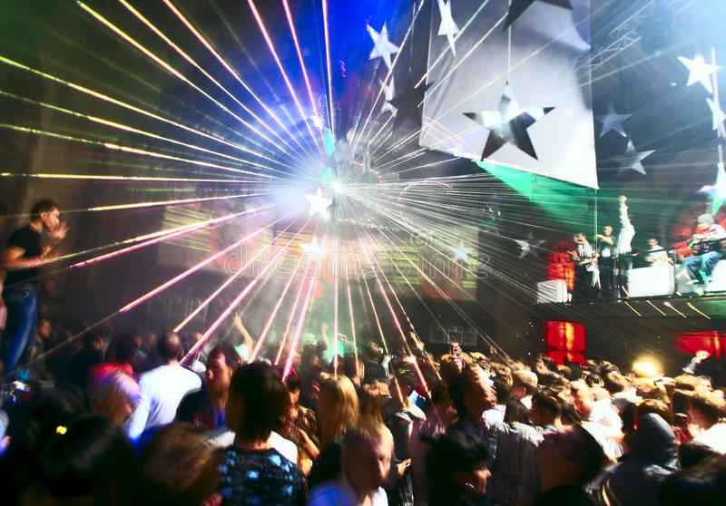 People dancing in the nightclub royalty free stock images