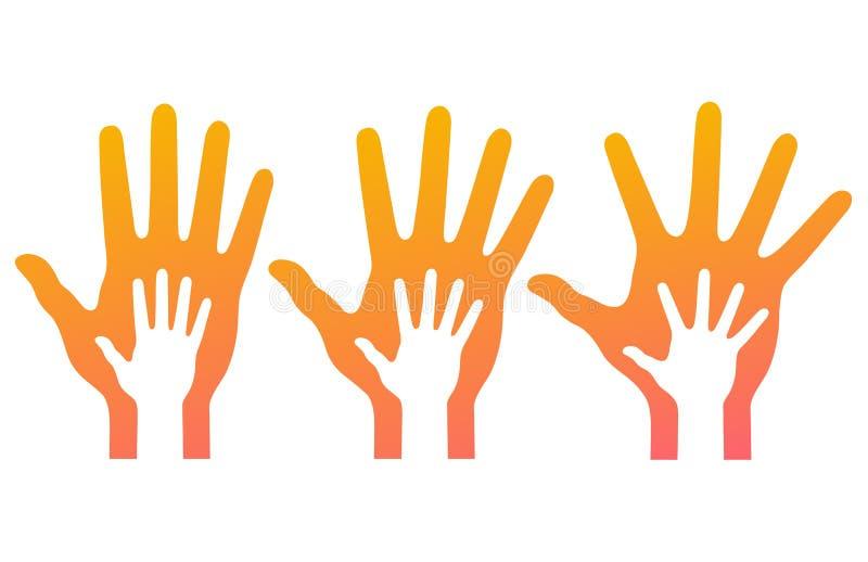 People' de ayuda; manos de s ilustración del vector