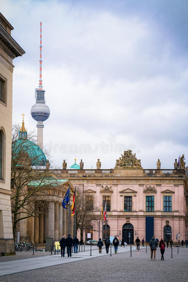 People at Deutsches Historisches Museum in German City centre Berlin royalty free stock photography