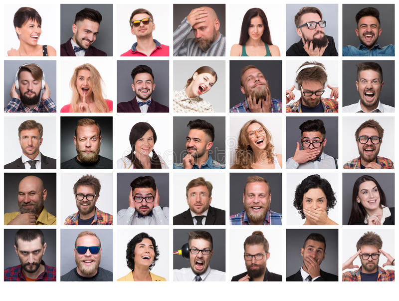 People with different emotions royalty free stock photo