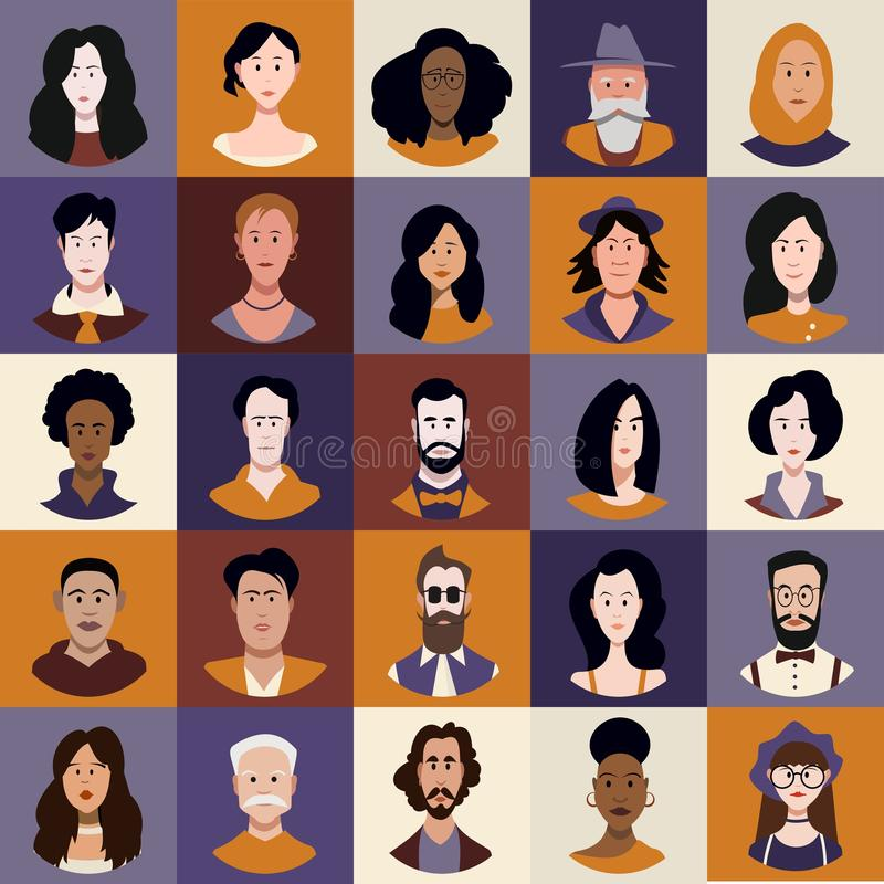 Character set of people. stock illustration
