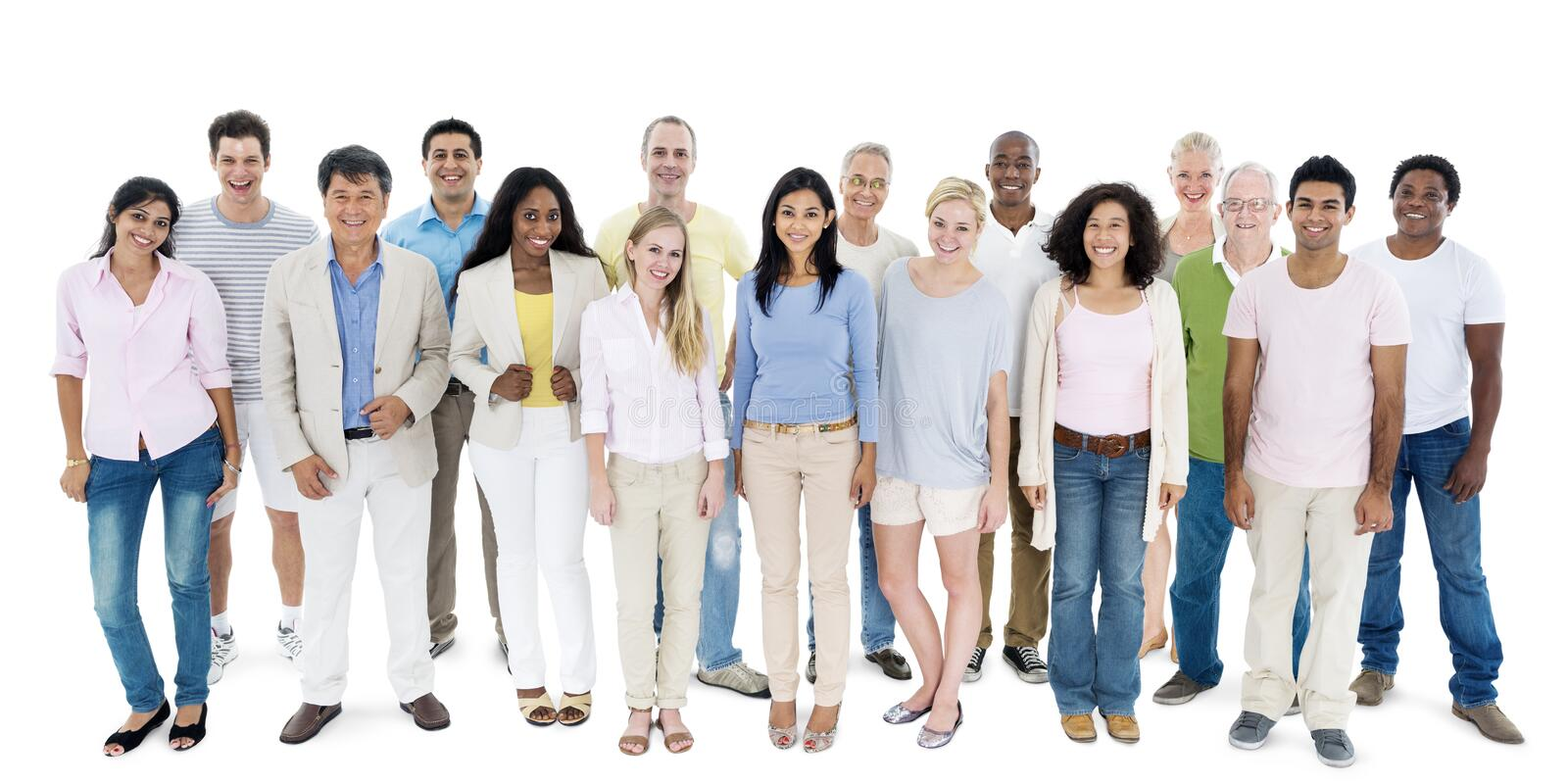 People Diversity Casual Group Ethnicity Community Concept.  royalty free stock image