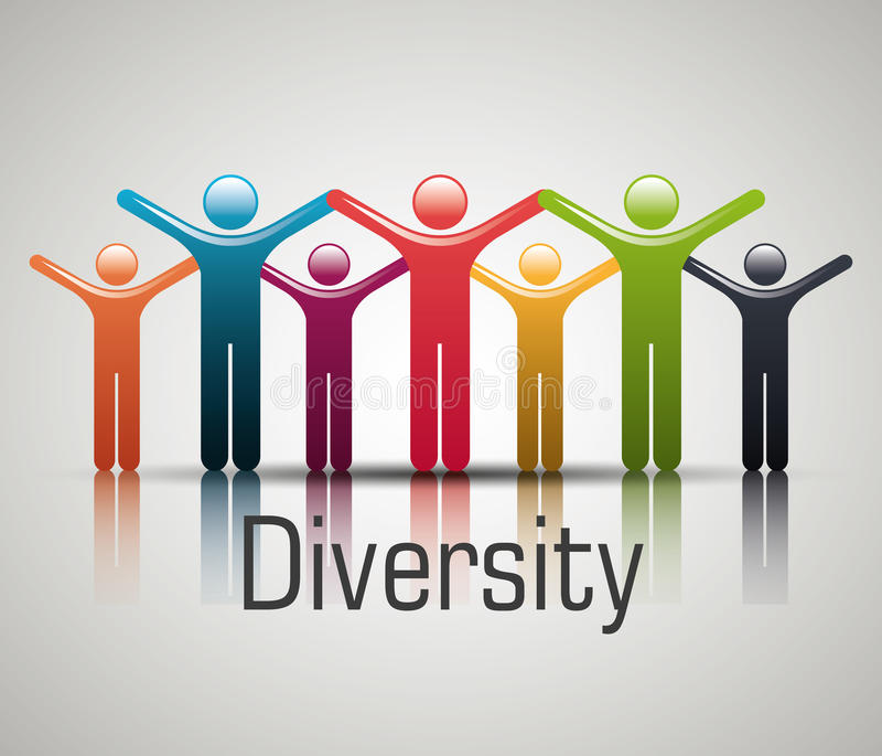 People diversity colorful icon. Graphic design, illustration eps10 stock illustration