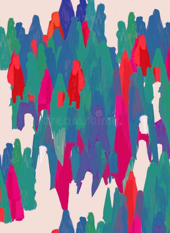 People and human heterogeneity. Colorful abstract and conceptual illustration stock illustration