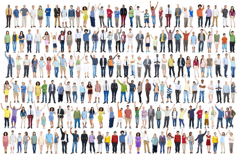 People Diversity Success Celebration Happiness Community Crowd C royalty free stock photos