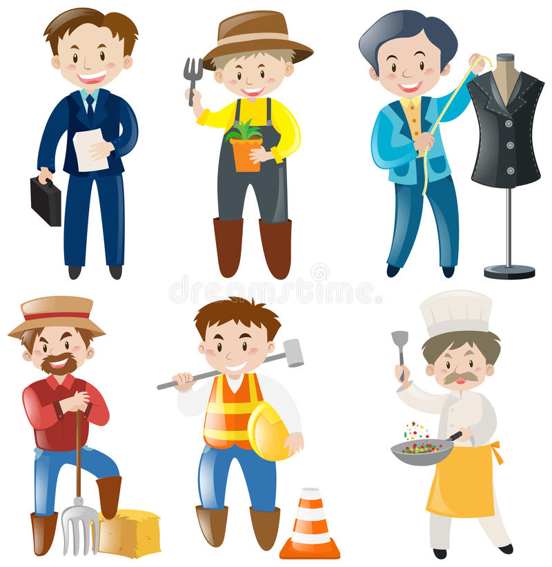 people doing different kinds of jobs stock vector illustration of rh dreamstime com