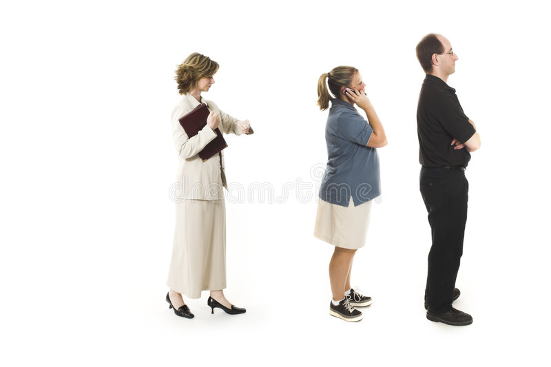 People doing line up stock images