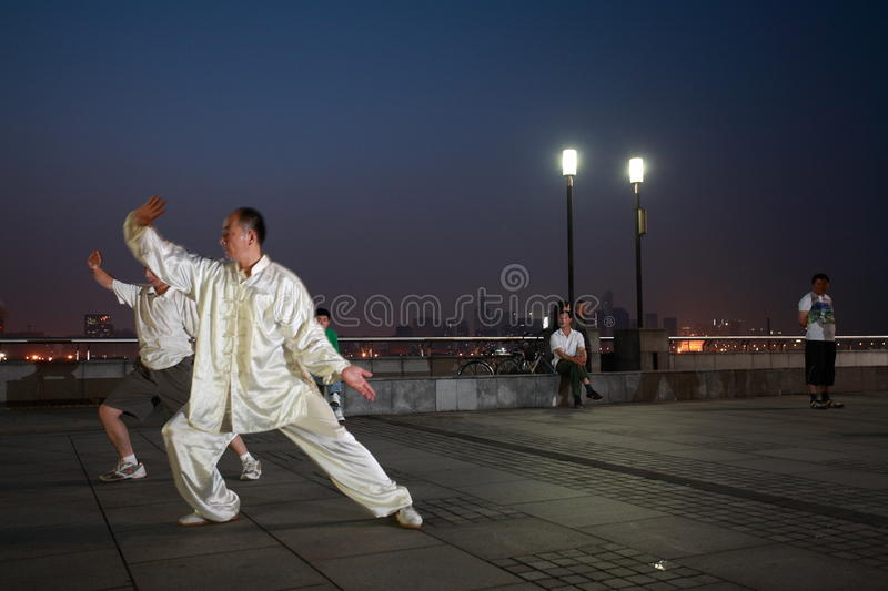 People doing taichi stock images