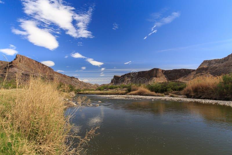 The Rio Grande along the Texas Mexico Border. People don`t want a wall along the Texas Mexico border stock images