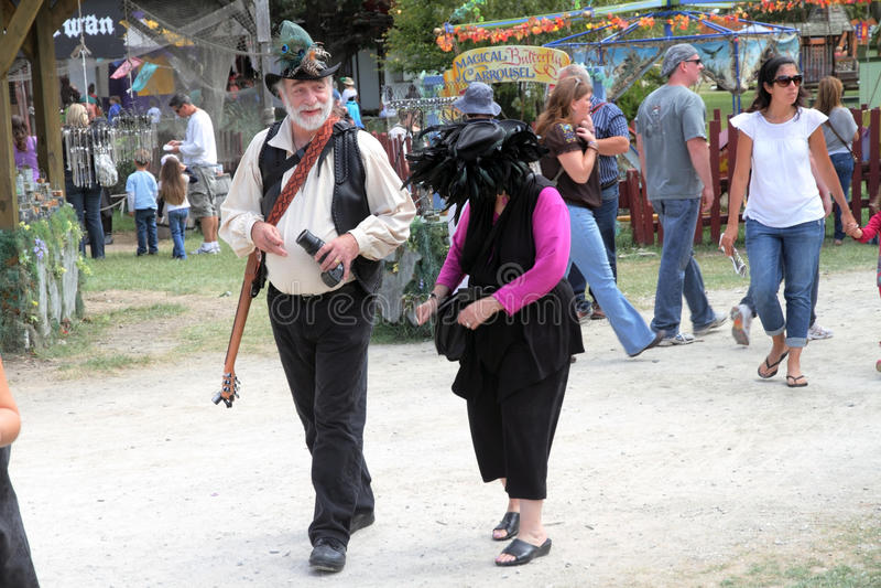 People Dressed In Medieval Costumes Editorial Image