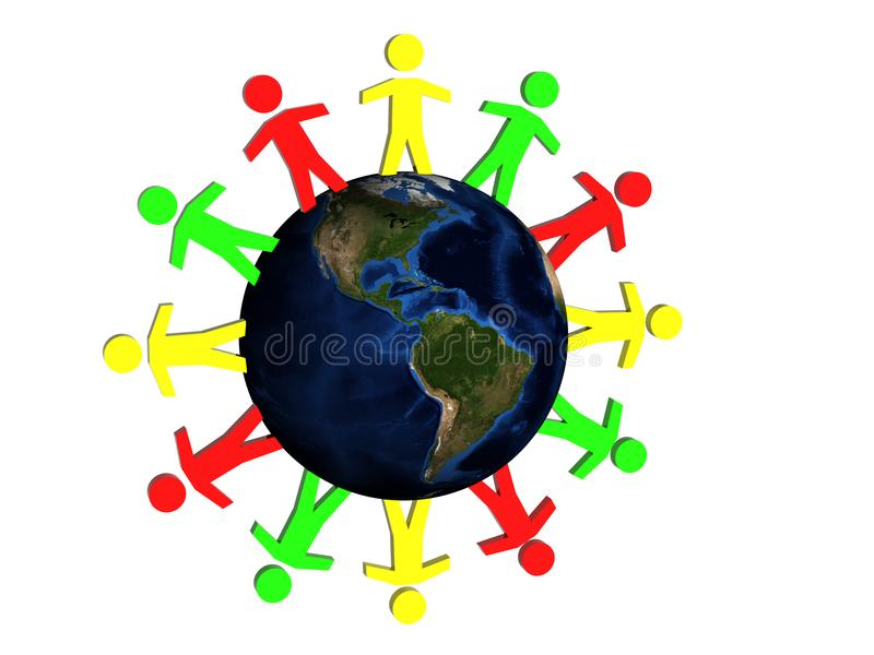 People on the earth royalty free stock images