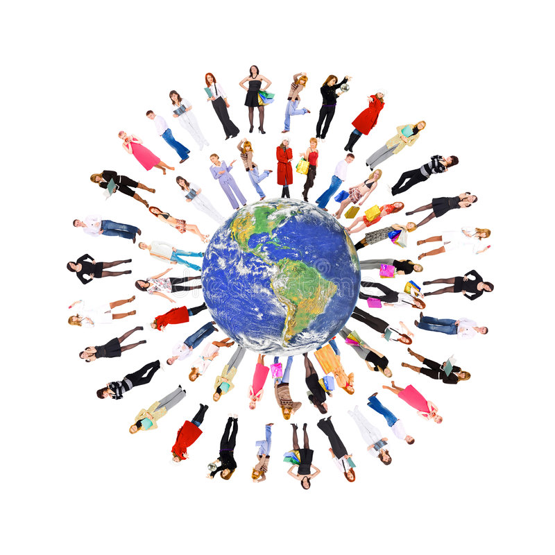 People on earth royalty free stock images