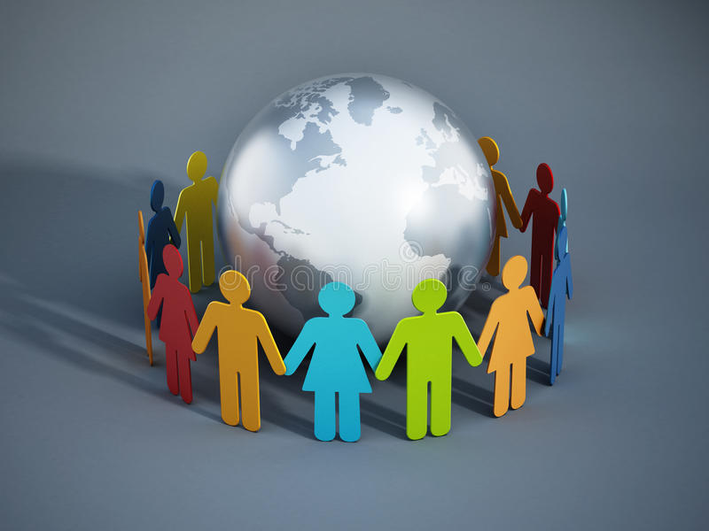 People of the Earth united. Concept stock illustration