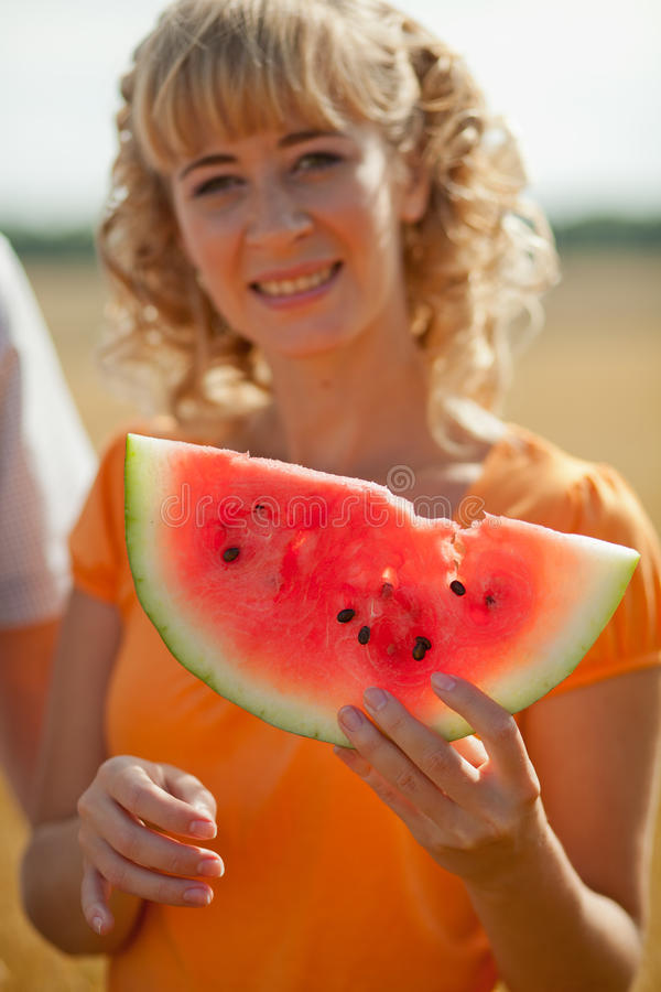 Download People eat watermelon stock image. Image of summer, fruit - 20943497