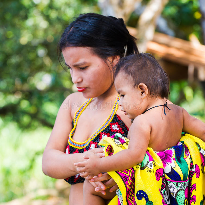 People In EMBERA VILLAGE, PANAMA Editorial Stock Photo ...