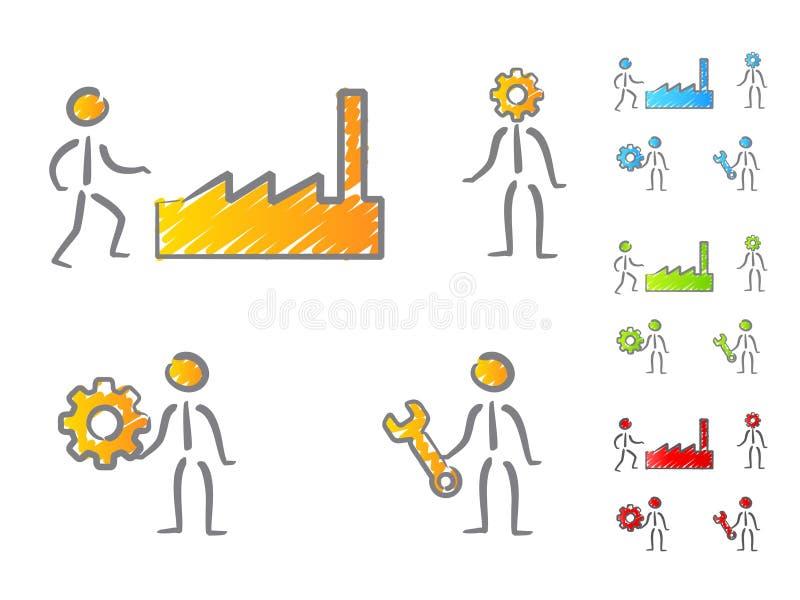 Download People engineers scribble stock vector. Image of mechanic - 22472835