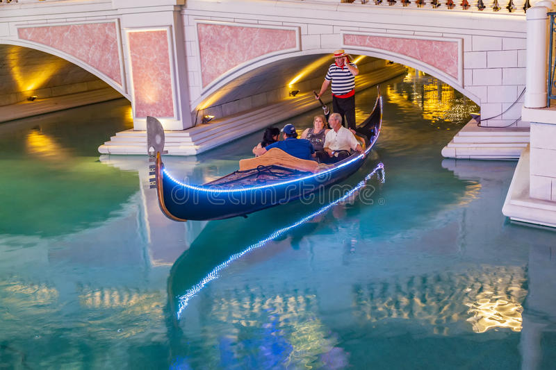 People enjoy the gondola at Venetian Resort Hotel & Casino stock photos