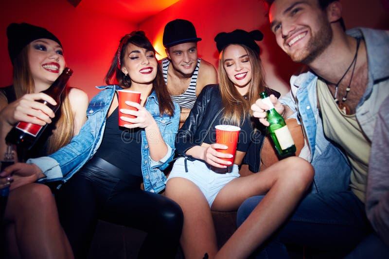 People Enjoying Amazing Party stock photo