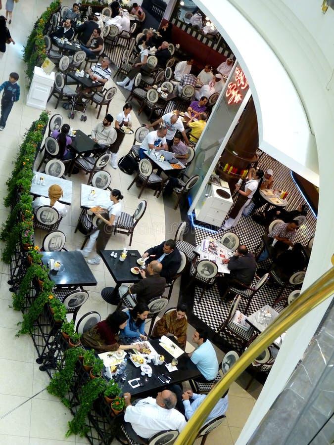 People Enjoying Food in Restaurant royalty free stock photos