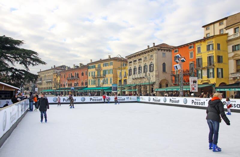 Download People Enjoying Ice Skating Rink Editorial Stock Photo - Image: 28222413