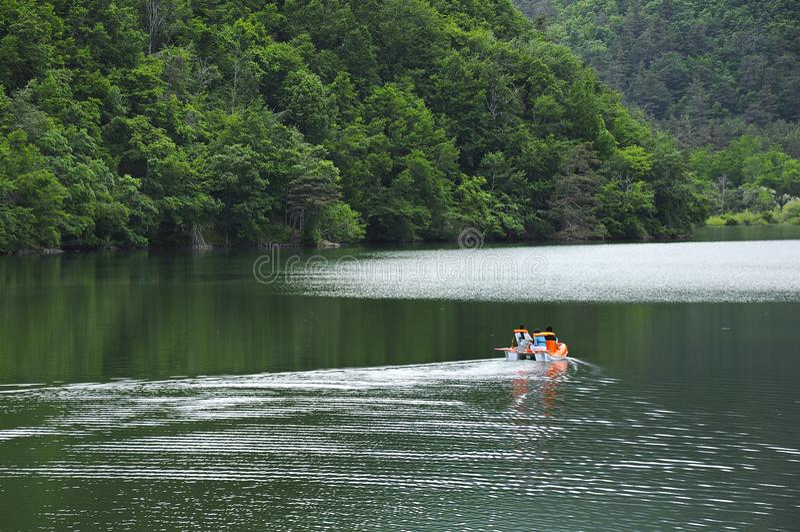 People enjoying at lake boraboy. In amasya city, Black Sea region of Turkey royalty free stock image