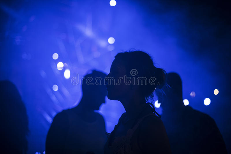 People Enjoying Live Music Concert Festival royalty free stock photography