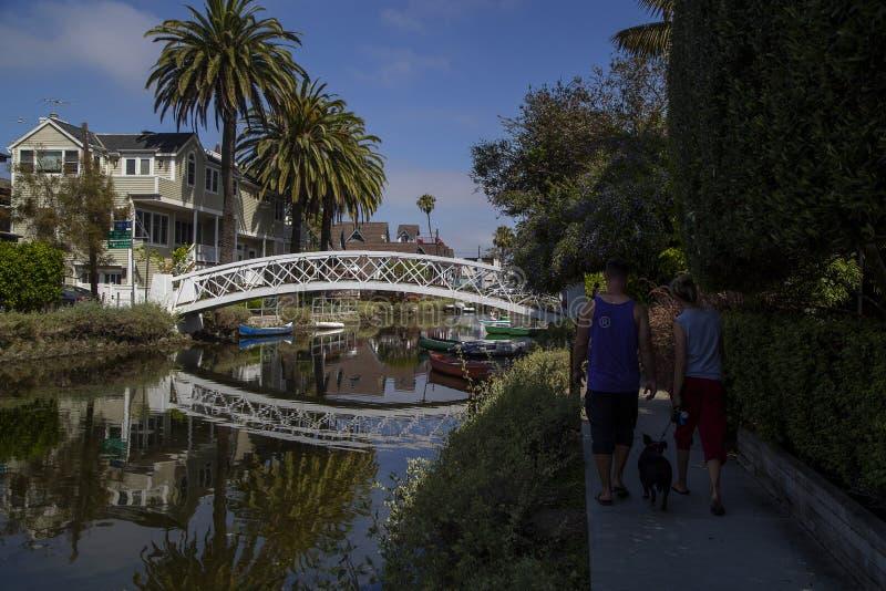 People enjoying Venice in California. People enjoying Venice neighborhood in California stock photos