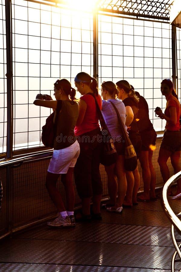 People Enjoying View Across Bangkok Editorial Stock Photo