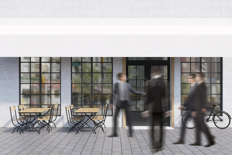 Download People Entering A Cafe Stock Illustration - Image: 83722222