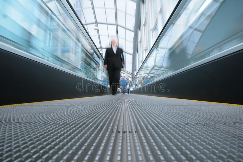People on escalator royalty free stock photo