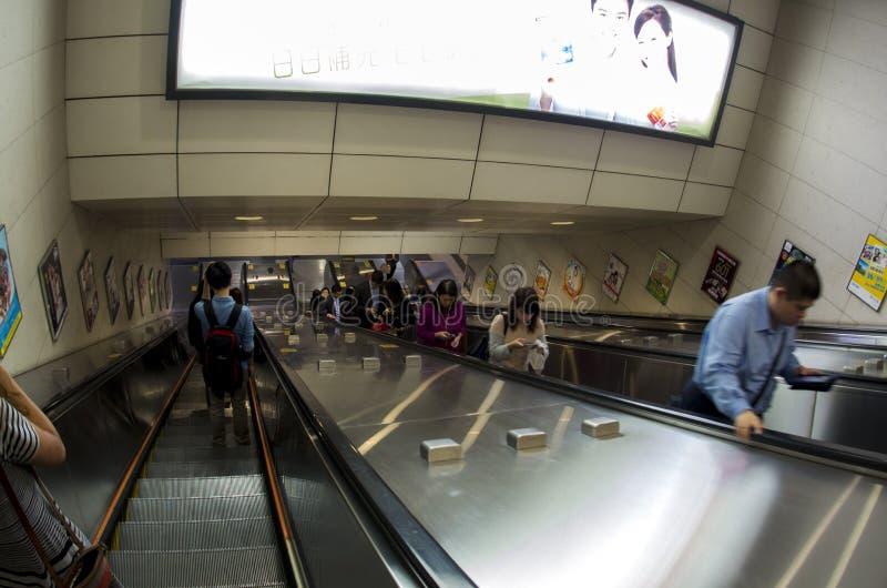 People on escalator royalty free stock photography