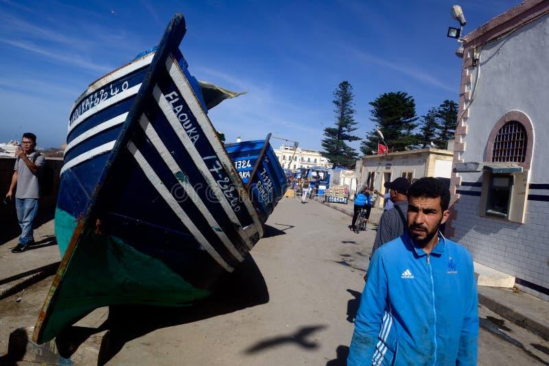 People in the Essaouira port stock photos