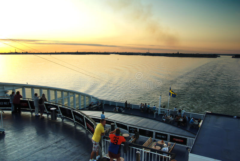 Download People On Evening Ferry. Editorial Photography - Image: 23045077