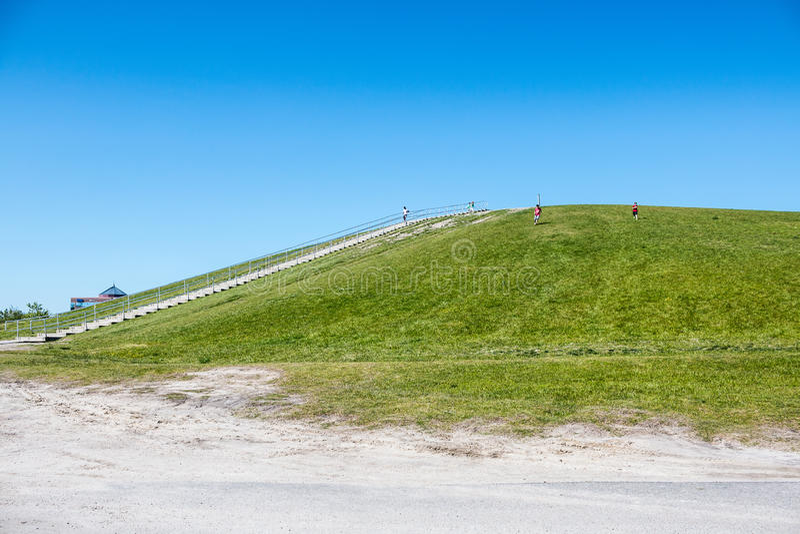 People Exercising at Mount Trashmore in Virginia Beach royalty free stock image