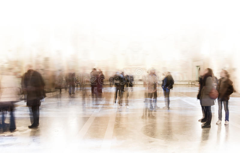 People at exhibition royalty free stock photos