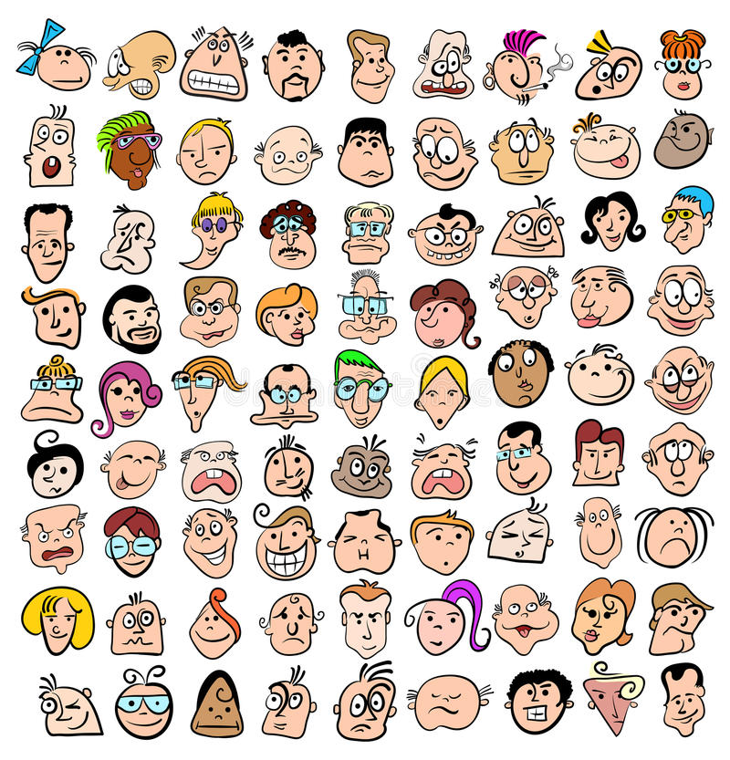 Free People Face Expression Cartoon Royalty Free Stock Photography - 24699647