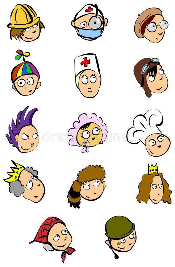 People faces stock illustration