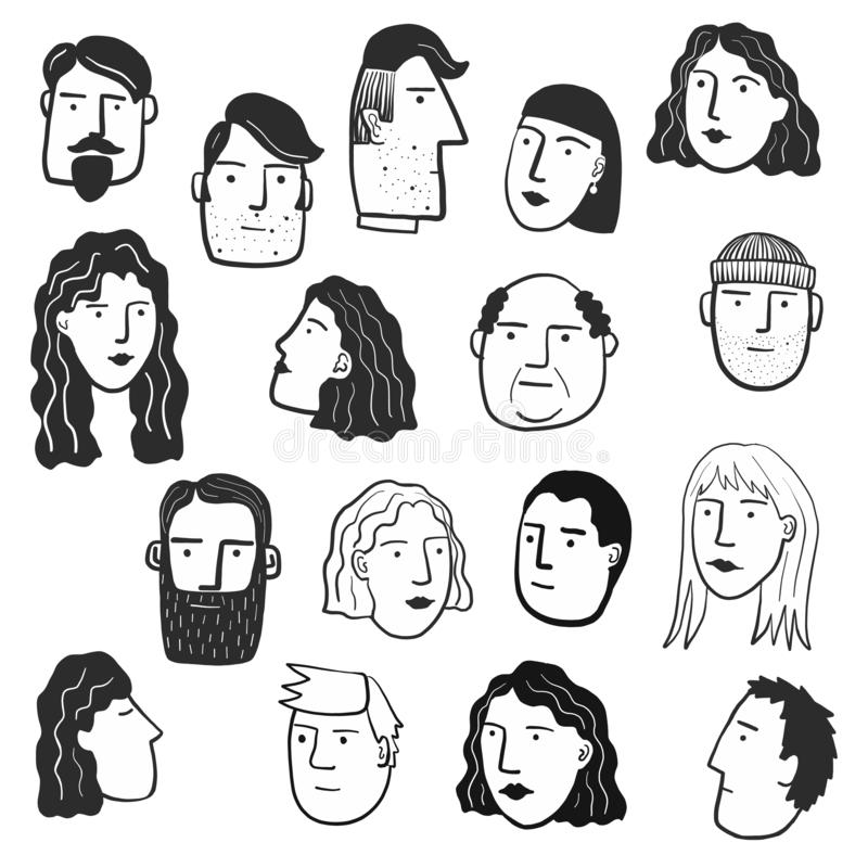 People and Faces stock illustration